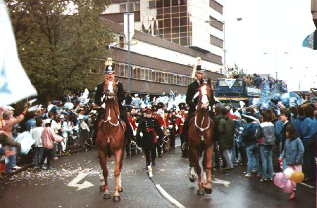 Celebrations in Coventry the day after winning the 1987 F.A. Cup Final